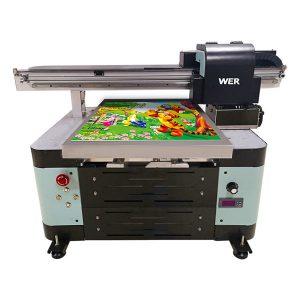 A2 størrelse uv flatbed printer til metal / telefon taske / glas / pen / krus