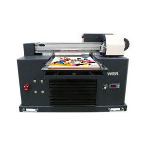 a3 størrelse fuldautomatisk 4 farve dx5 printerhoved mini uv printer dtg uv flatbe