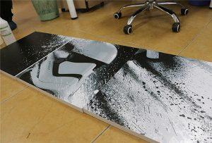 Billboard printet af WER-G2513UV stort format UV printer 2