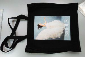 Sort prøvepose fra UK kunde blev trykt af dtg tekstil printer
