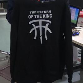 Sort sweater print prøve af A2 t-shirt printer WER-D4880T