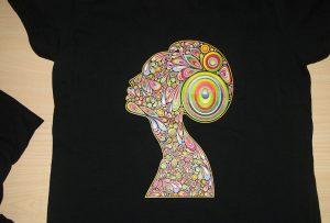 Sort t-shirt trykkeri af A2 t-shirt printer WER-D4880T