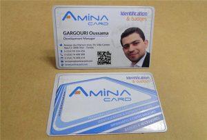 Virksomhedsnavnskort printsample fra desktop uv printer -A2 størrelse WER-D4880UV