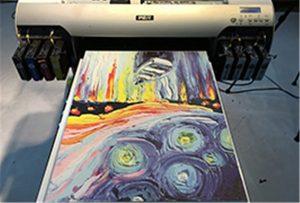 Canvas prøve fra A2 UV printer WER-EH4880UV