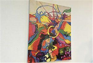 Canvas prøve udskrivet af A1 størrelse uv printer WER-EP6090UV