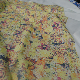 Digital tekstiltryksprøve 3 af A1 digital tekstil printer WER-EP6090T