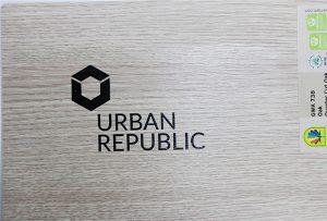 Logoudskrivning på træmaterialer af WER-D4880UV 2