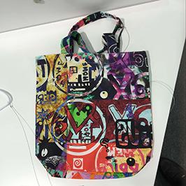 Ikke-vævet taskeprøve af A1 digital tekstil printer WER-EP6090T