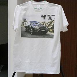 Hvid t-shirt tryksprøve af A3 t-shirt printer WER-E2000T 2