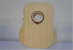 Træ guitar prøve fra A2 størrelse uv printer WER-DD4290UV
